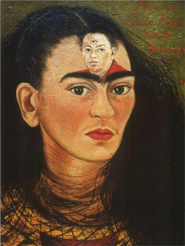Diego and I, 1949 by Frida Kahlo
