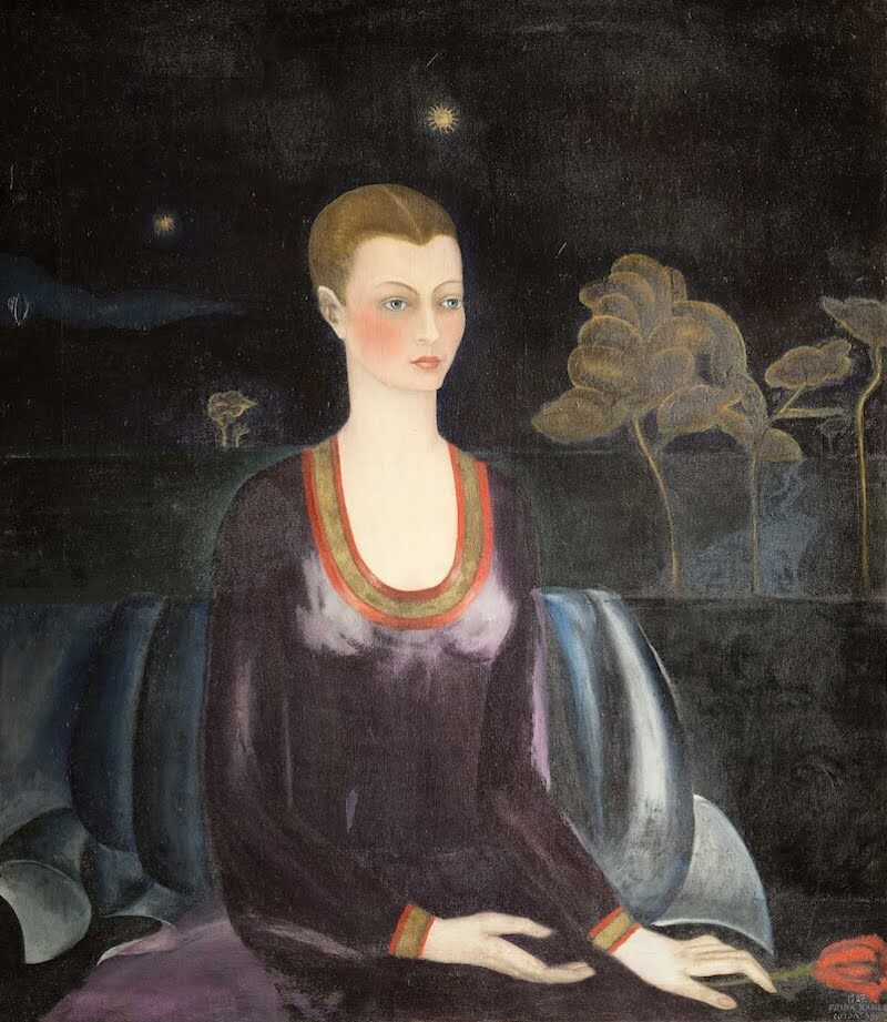 Portrait of Alicia Galant, 1927 - by Frida Kahlo