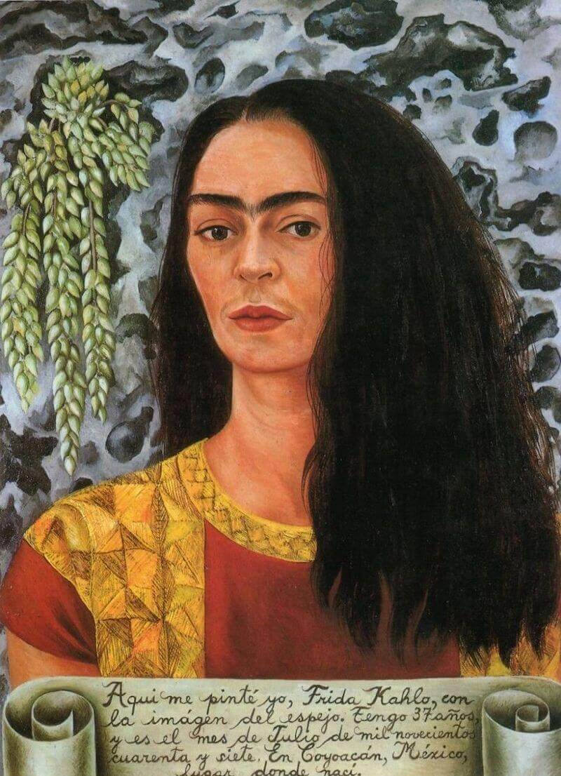 Self Portrait with Loose Hair, 1947 by Frida Kahlo