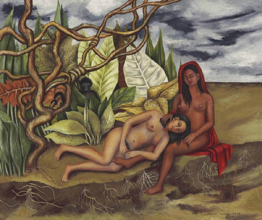 Two Nudes in a Forest, 1939 by Frida Kahlo