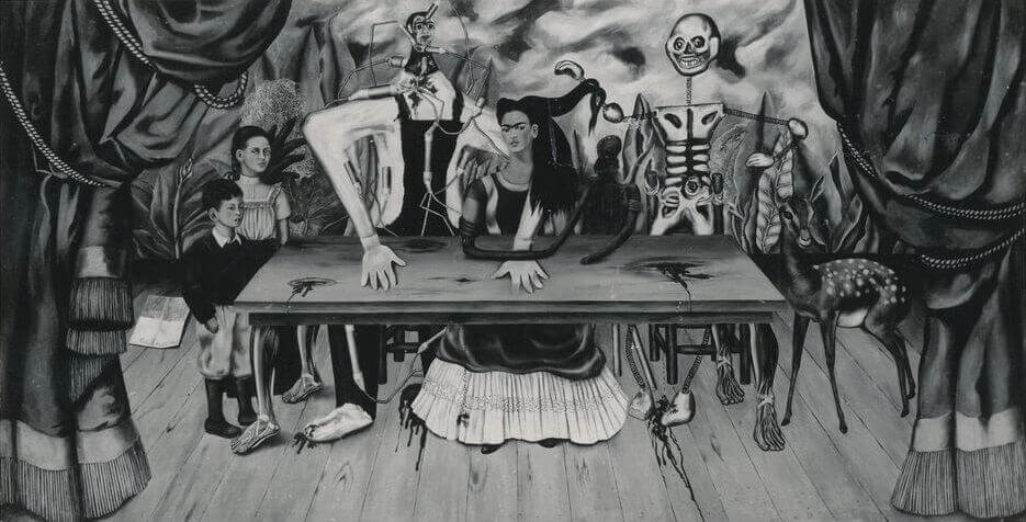 Photo of Frida Kahlo's Wounded Table Painting