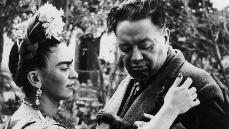 Photo of Frieda and Diego Rivera