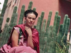 Frida Kahlo by Organ Cactus Fence