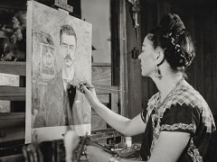 Frida Kahlo Painting her Father