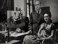 Frida Kahlo with Doctor Juan Farill