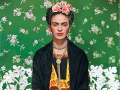 Frida Kahlo on Bench
