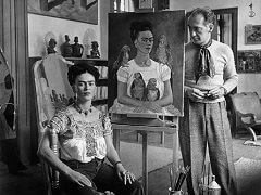 Frida Painting 'Me and my Parrots' with Nickolas Muray